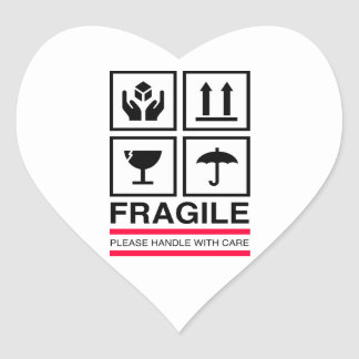 Fragile Handle with care graphic label design Stickers