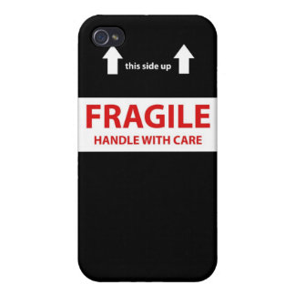 Fragile Handle with care iPhone 4/4S Case