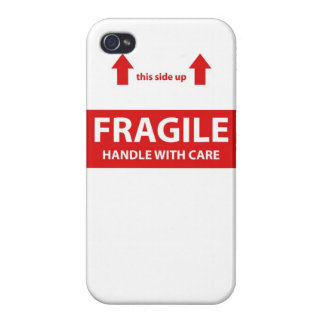 Fragile Handle with care iPhone 4 Case