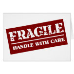 Fragile Handle with Care Item Card