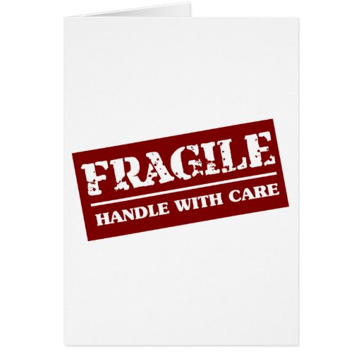 Fragile Handle with Care Item Cards