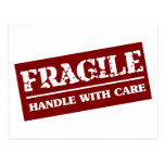 Fragile Handle with Care Item Postcards