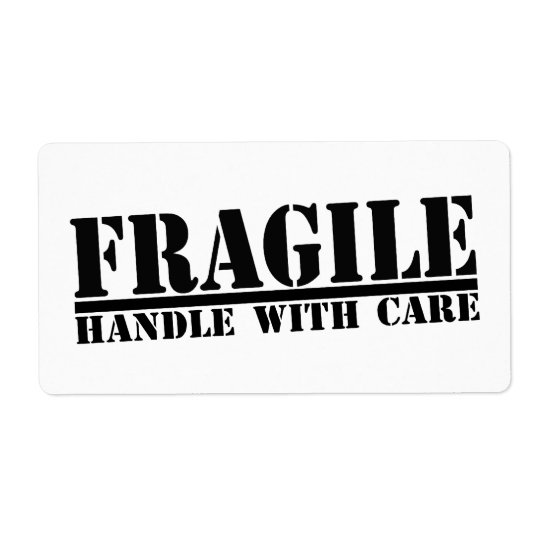 Fragile Handle With Care Labels | Zazzle.com
