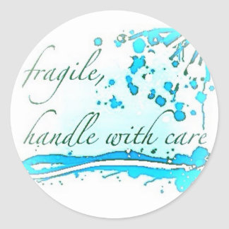 fragile handle with care large sticker