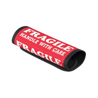 Fragile Handle With Care Luggage Handle Wrap