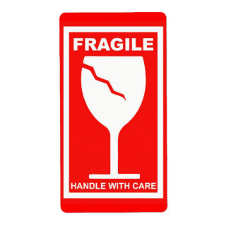 Fragile Handle With Care Shipping Label
