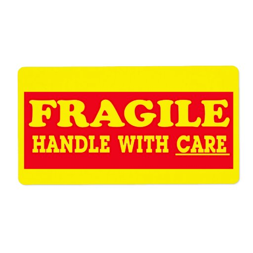 Fragile handle with care shipping label zazzle for How to send a shipping label to someone