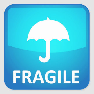 Fragile. Handle with care! Stickers