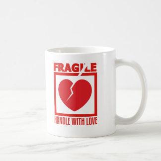 Fragile Handle With Love Classic White Coffee Mug