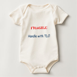 FRAGILE, Handle with TLC! Baby Bodysuit