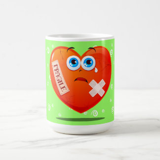Fragile heart, funny mug