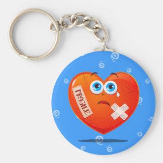 Fragile heart, keychain