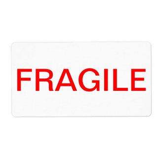 FRAGILE LABEL SHIPPING LABEL