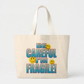 Fragile Life B Large Tote Bag
