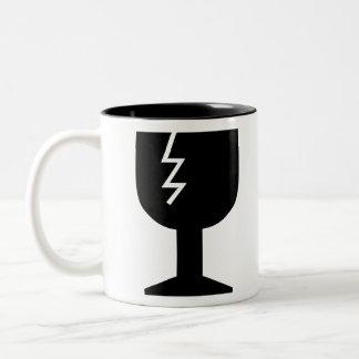 Fragile Object Two-Tone Coffee Mug