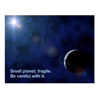 Fragile Planet Post Card