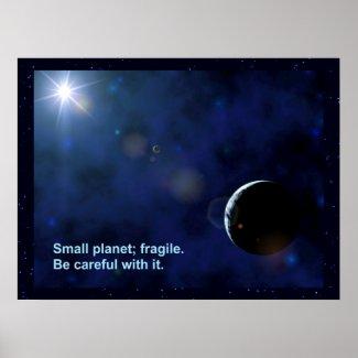 Fragile Planet Print