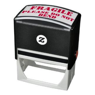 Fragile - Please Do Not Bend (For Vinyl Packaging) Self-inking Stamp