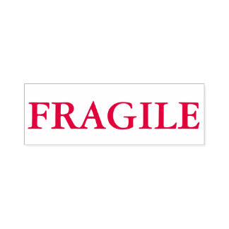 """""""FRAGILE"""" Self Inking Stamp In Red Ink"""