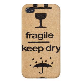 fragile sign 4 casing iPhone 4 case