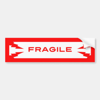 Fragile Symbol Bumper Sticker Car Bumper Sticker