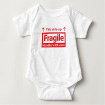 Fragile this side up baby clothes baby bodysuit