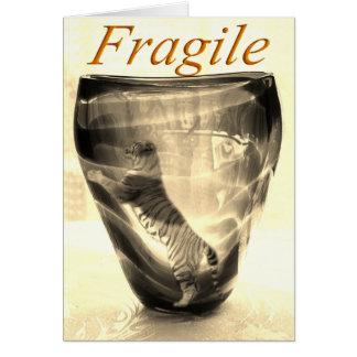 Fragile Tiger Card