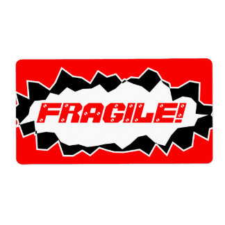 Fragile warning -  shipping stickers label