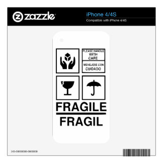 Fragile Warning sticker Decal For The iPhone 4
