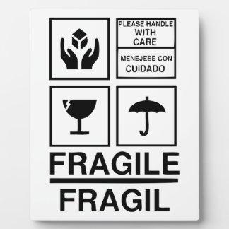 Fragile Warning sticker Plaque
