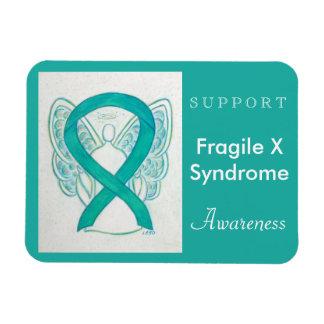 Fragile X Syndrome Awareness Ribbon Angel Magnet