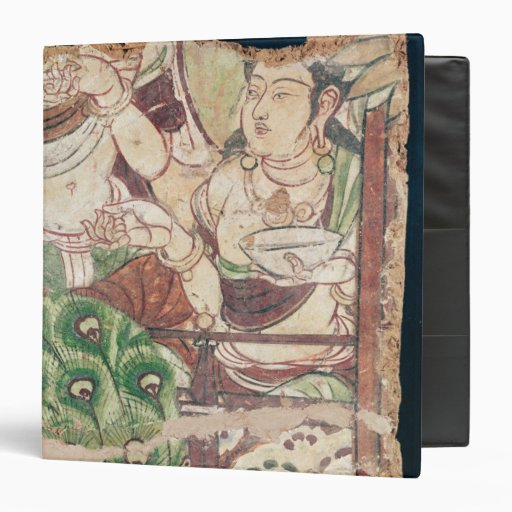 Fragment depicting a Buddhist paradise Binders
