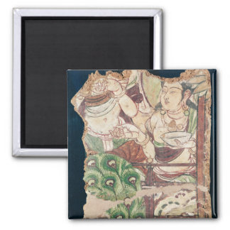 Fragment depicting a Buddhist paradise Magnet