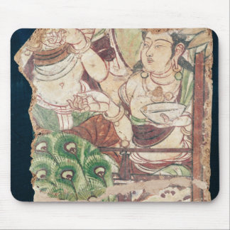 Fragment depicting a Buddhist paradise Mouse Pad