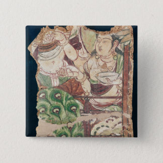 Fragment depicting a Buddhist paradise Pinback Button