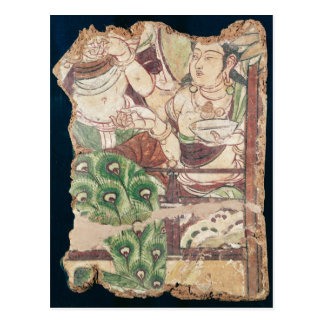 Fragment depicting a Buddhist paradise Postcard