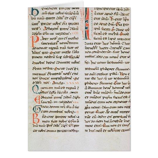 Fragment from a Cathar manuscript Card