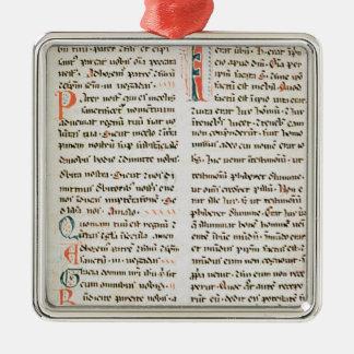 Fragment from a Cathar manuscript Metal Ornament
