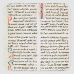 Fragment from a Cathar manuscript Square Stickers