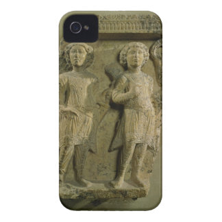 Fragment of a bas-relief plaque depicting two sold Case-Mate iPhone 4 case