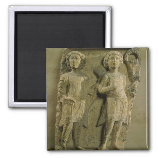Fragment of a bas-relief plaque depicting two sold magnet