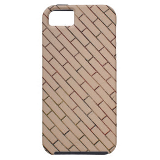 Fragment of a brick wall beige with diagonal image iPhone SE/5/5s case
