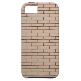 Fragment of a brick wall beige with neat rows of m iPhone SE/5/5s case