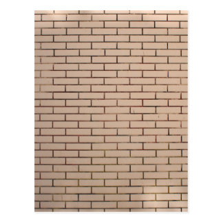 Fragment of a brick wall beige with neat rows of m postcard