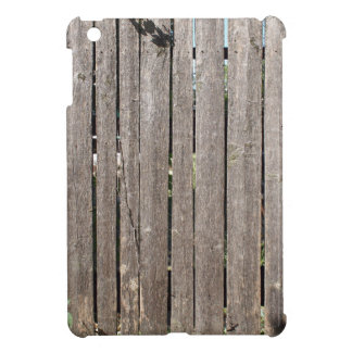 Fragment of a fence from wooden planks iPad mini cases