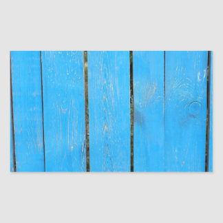 Fragment of a fence from wooden planks rectangular sticker