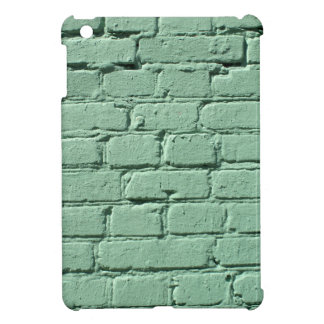 Fragment of a green brick wall iPad mini cases