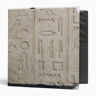 Fragment of a hieroglyphic inscription vinyl binders