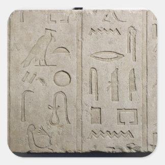 Fragment of a hieroglyphic inscription square sticker