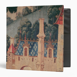 Fragment of a medieval tapestry 3 ring binder